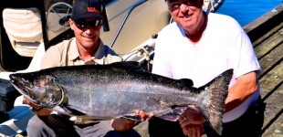 41 pound chinook salmon BC fishing image