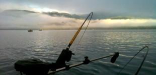 Fishing morning tide North Quadra Island image