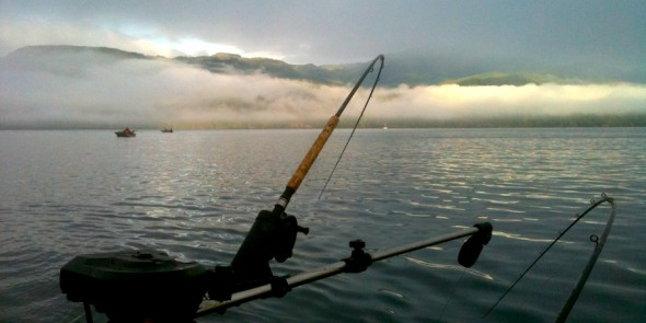 Fishing morning tide North Quadra Island image