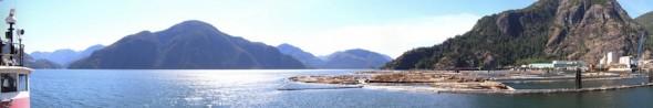 Gold River Wharf Panorama Image